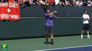 Roger Federer Slow Motion HD — Indian Wells Pt. 01