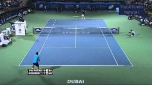 【HD】Federer vs Del Potro Highlights (Dubai 2012)